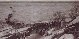 FOTO Dunarea inghetata: un spectacol infricosator de acum un secol