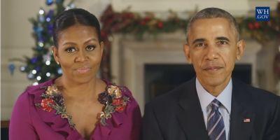 VIDEO Familia Obama transmite ultimul sau mesaj de Craciun si reflecteaza la cei opt ani petrecuti la Casa Alba