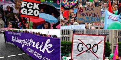 Circa 10.000 de persoane au manifestat la o demonstratie antiglobalizare, la Hamburg