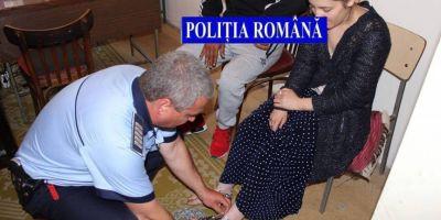 O tanara tinuta in lanturi de familia ei a fost salvata de politisti la Rosiorii de Vede