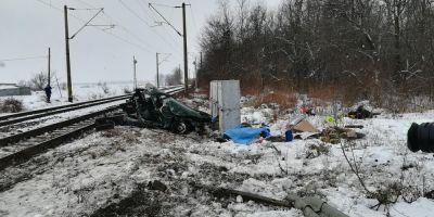 VIDEO Imagini cu teribilul accident feroviar din judetul Iasi in care doi soti si-au pierdut viata