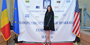FOTO Cum a ajuns Monica Gabor sa reprezinte Romania la un festival de film European din SUA
