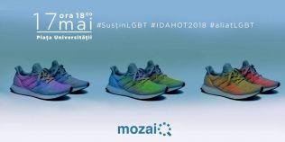Zeci de pantofi vor fi expusi, joi seara, in Piata Universitatii intr-un gest de solidaritate cu persoanele gay din Romania